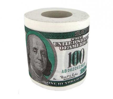 """Туалетная бумага """"100 долларов"""""""