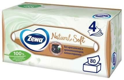 Салфетки бумажные Zewa Natural Soft косметические 80шт
