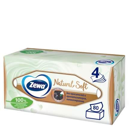 Салфетки бумажные косметичские Zewa Natural Soft 80шт