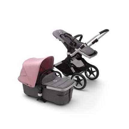 Bugaboo fox2 коляска 2 в 1 alu/ grey melange/ soft pink