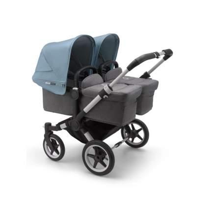 Bugaboo donkey3 коляска 2 в 1 для двойни twin alu/grey melange/vapor blue