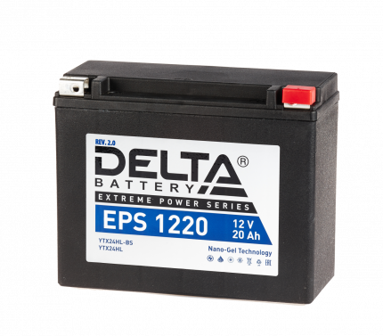 Аккумулятор автомобильный  Delta EPS 1220 20 Ач