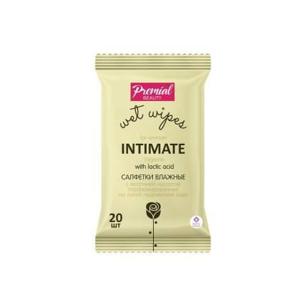 Салфетки для интимной гигиены Premial с молочной кислотой 20 шт