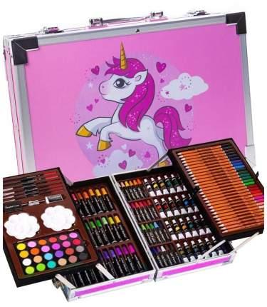 Пони Набор для рисования и творчества в чемоданчике 147 предметов / розовый