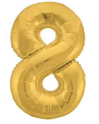 Шар фольга цифра UP&UP 8 38*94 см золотой