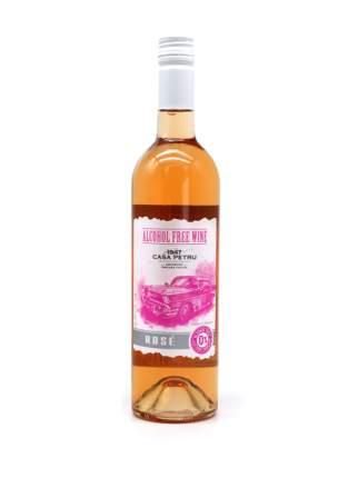 """Вино безалкогольное Casa Petru (Каса Петру) Розе"""" 0,75 розовое полусладкое, Молдавия"""