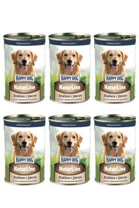 Влажный корм для собак Happy Dog , ягненок, рис, 6шт, 410г