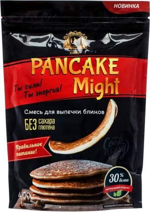 """Протеиновые блины """"Pancake Might"""" (смесь для выпечки), 400г, ООО """"Юмайт"""", PM009"""