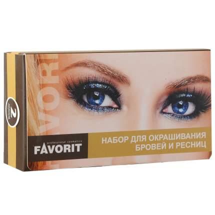 Набор декоративной косметики для бровей и ресниц Farmavita FAVORIT Черный