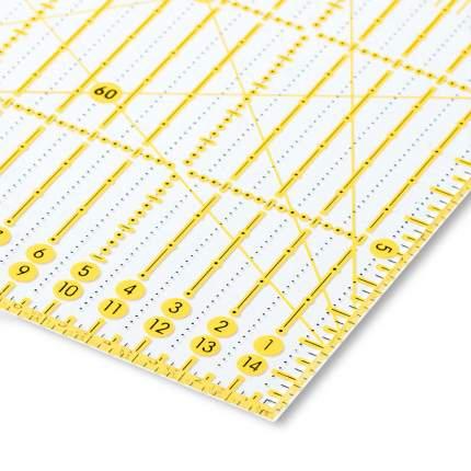 Универсальная линейка с сантиметровой шкалой, угол, 15x60 см