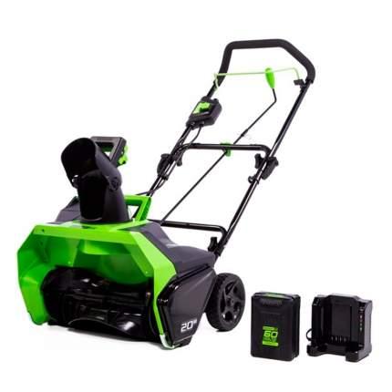 Аккумуляторный снегоуборщик Greenworks GD60STK6 2602407UF АКБ и ЗУ в комплекте