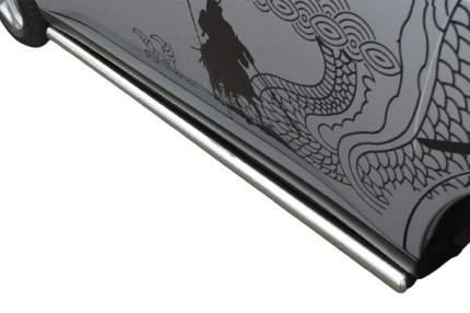 Пороги труба d63 (вариант 3) для Mitsubishi Outlander 2012-2014
