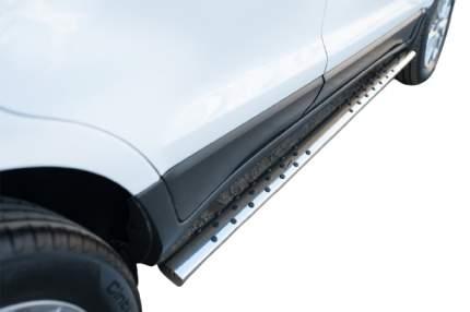 Пороги труба 75х42 овал с проступью для Ford Ecosport 2014-