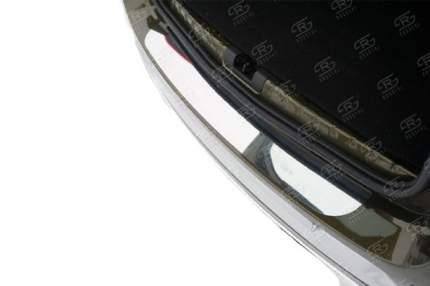Накладка на задний бампер (лист нерж зеркальный) для RENAULT Duster 2015