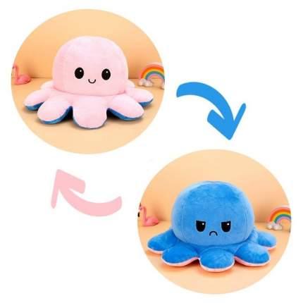 Мягкая игрушка Multi-Shops Осьминожка перевертыш, роз/Синий 27042021