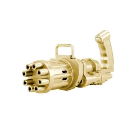 Детский пистолет-генератор мыльных пузырей Bubble Gun/ Electric Bubble Machine , золотой