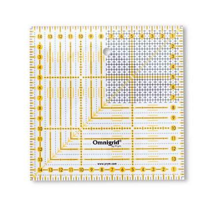 """Универсальная линейка с сантиметровой шкалой """"Растр"""", 15x15 см"""
