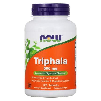 Для пищеварения NOW Triphala 500 мг таблетки 120 шт.