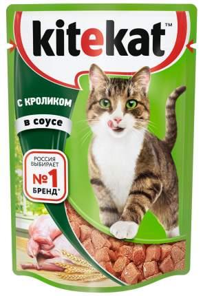 Влажный корм для кошек Kitekat, с кроликом в соусе, 28 шт по 85г