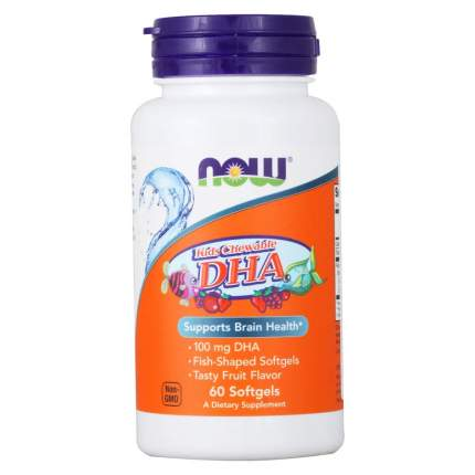 Omega 3 NOW Kid's Chewable Dha 60 капс.