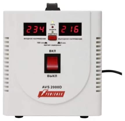 Стабилизатор напряжения Powerman AVS 2000D White