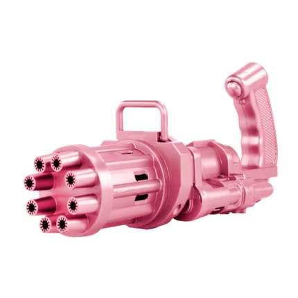 Детский пистолет-генератор мыльных пузырей Bubble Gun/ Electric Bubble Machine , розовый
