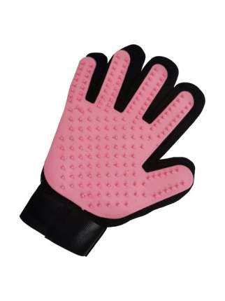 Рукавица для вычесывания шерсти животных STEFAN цвет розовый, 23х17см,