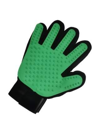 Рукавица для вычесывания шерсти животных, STEFAN цвет зеленый,  23х17см