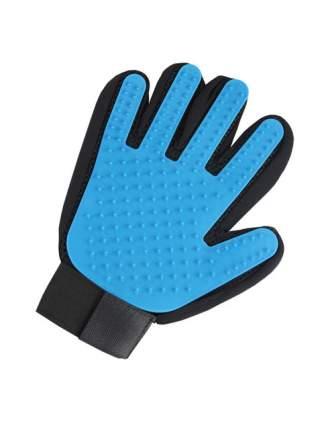 Рукавица для вычесывания шерсти животных STEFAN цвет синий,  23х17см