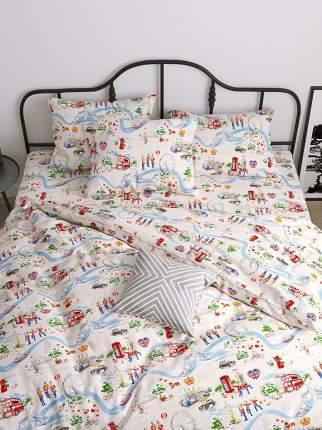 Пододеяльник Сказка -Лондон- 1,5-спальный на молнии 145х215 см