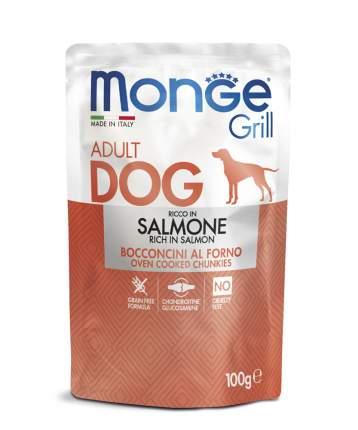 Влажный корм для собак Monge Grill Pouch, с лососем, 24шт по 100г