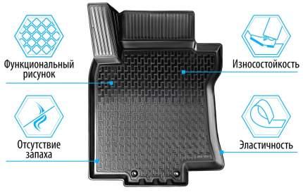 Коврики в салон RIVAL для Nissan Qashqai II Россия 2015-н.в., без крепежа, 5 шт., 14105004