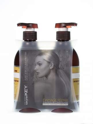 Набор DAMAGE REPAIR для ухода за волосами SARYNA KEY с африканским маслом ши 500+500 мл