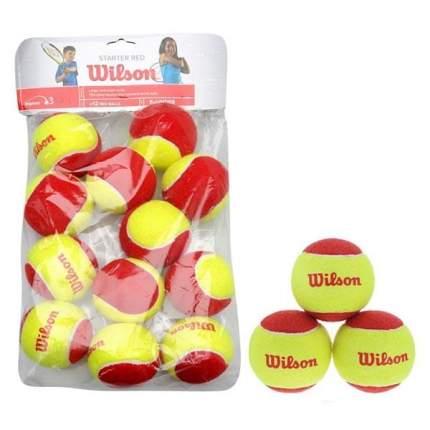 Мяч теннисный Wilson Starter Red арт.WRT137100 12шт.