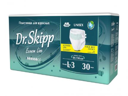 Подгузники для взрослых Dr. Skipp Econom Line, размер L-3 84-150 см 30 шт