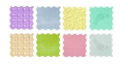 Модульный коврик Ортодон Набор №1 универсал, пастельные цвета