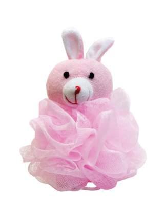 Детская нейлоновая мочалка в виде зверюшки Markethot BATH JPONGE Розовый