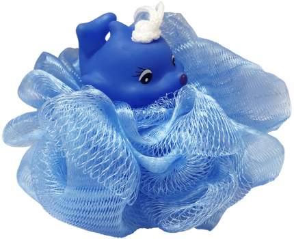 Детская нейлоновая мочалка в виде зверюшки Markethot BATH JPONGE голубой