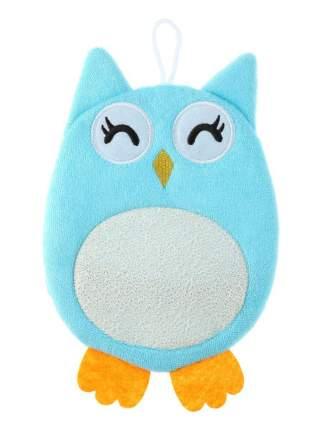 Детская мочалка-варежка в виде зверюшки Markethot Comfortable BathLife Голубой