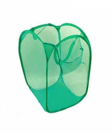 Складная сетчатая корзина для вещей, 33х33х58 см (Цвет: Зелёный )
