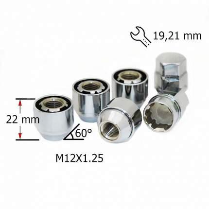 Комплект секреток гаек SDS Exclusive M12X1,25 22мм Конус