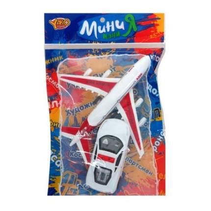 Игр.набор, Аэропорт, самолет инерц., машина инерц., пакет