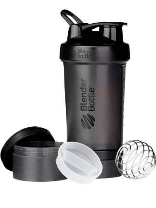 Шейкер с контейнерами и таблетницей BlenderBottle ProStak Full Color 624 мл black