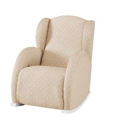 Кресло-качалка Micuna Wing/Flor white/beige galaxy