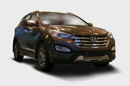 Декоративные элементы воздухозаборника d10,Hyundai Santa Fe 2013- хром, HYSF.97.2349