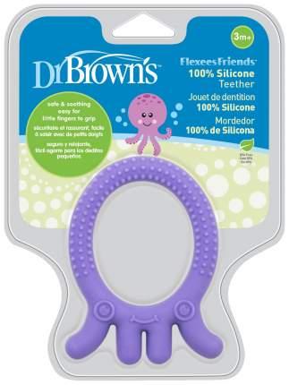 Прорезыватель Dr. Brown's Flexees Friends Осьминог фиолетовый