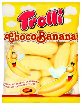 Маршмеллоу Trolli  Шокобананны с какао начинкой 150г