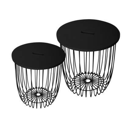 Комплект кофейных столиков Bradex Home Easy FR 0419, чёрный