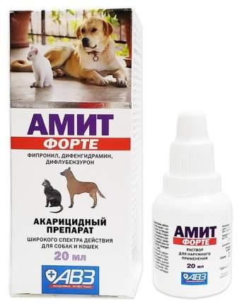 Ушные капли для кошек и собак АВЗ АМИТ ФОРТЕ, 20 мл