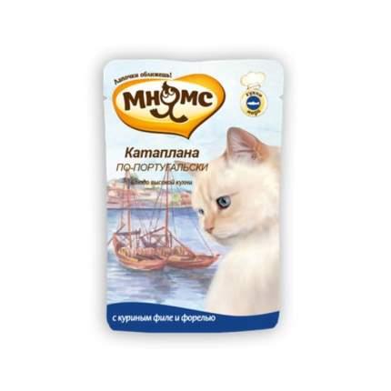Влажный корм для кошек Мнямс Катаплана по-португальски, курица, форель, 12шт, 85г